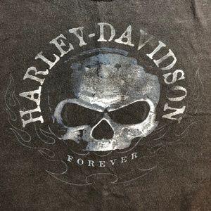 Vintage Harley Davidson Motorcycle Skull T Shirt